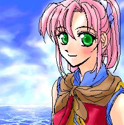 因為前一張的烏娜比較小,特別幫她單獨畫一張。